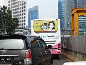 Iklan Anti Rokok di Bis TransJakarta