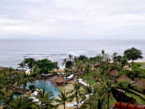 Pemandangan Indah Pantai Nusa Dua Dilihat Dari Lantai 7 Grand Nikko [Hilton resort] Bali