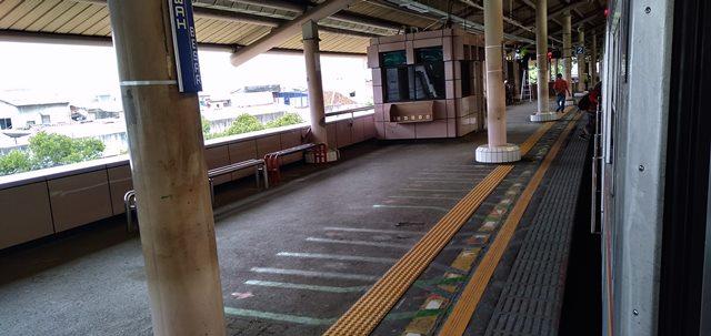 Warna Stasiun Sawah Besar - PINK