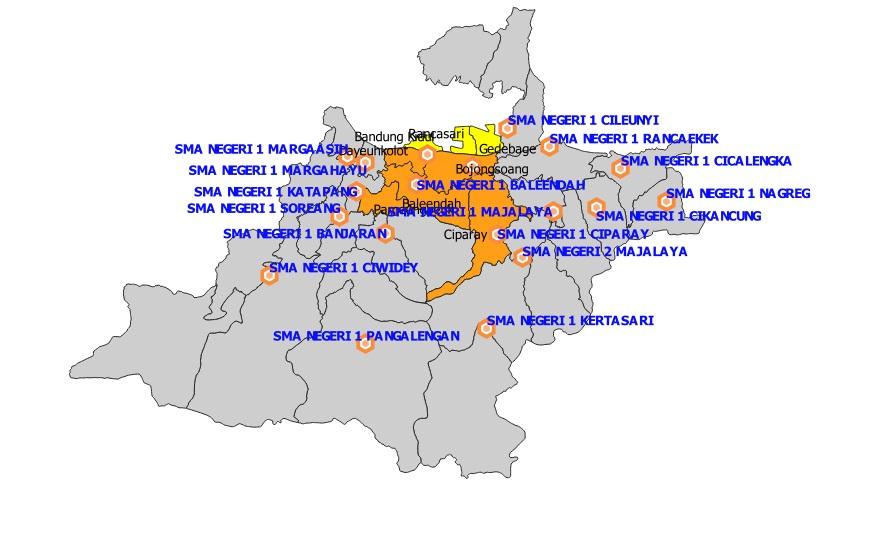 Daftar SMA Negeri Kabupaten Bandung Berdasarkan Sistem Zonasi PPDB Jabar 2019 ZONA C