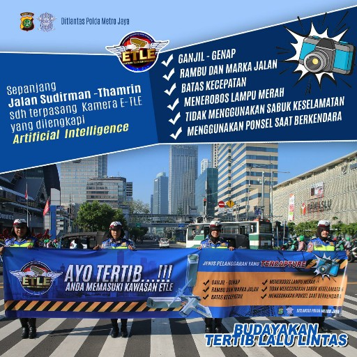 Jenis Pelanggaran Kena Tilang Elektronik di Jakarta