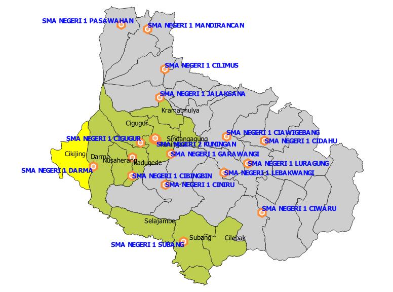 Daftar SMA Negeri Kabupaten Kuningan Berdasarkan Sistem Zonasi PPDB Jabar 2019