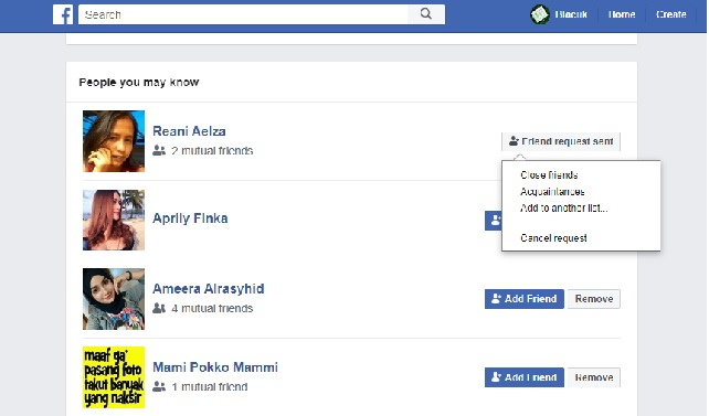 Cara Membatalkan Permintaan Pertemanan (Friend Request) Di Facebook
