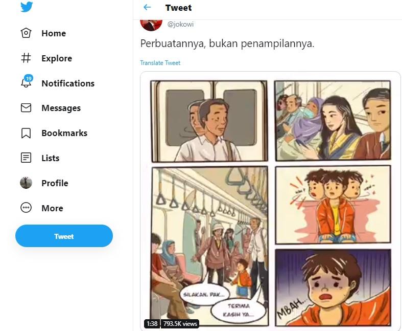 Pak Jokowi : Jangan Lihat Penampilan Lihat Perbuatannya