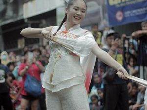 [FOTO] Gadis-Gadis Tionghoa Cantik Menari Di Jalanan, Bogor CGM Street Festival 2020