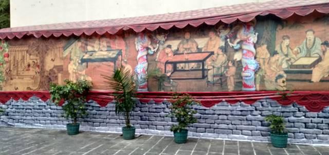 Mural (Lukisan Dinding_ Cantik Vihara Tertua Di Kota Hujan