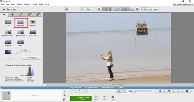 Cara Meluruskan Foto Miring Dengan Picasa