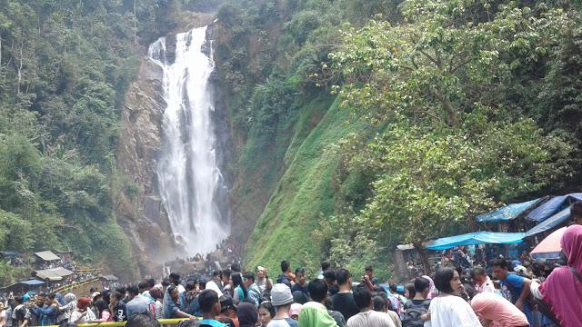 Pesona Air Terjun Bedegung Muara Enim Sumatera Selatan