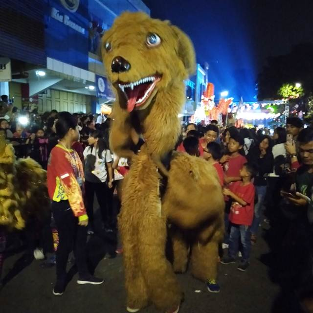 Barongsai berwujud anjing di cap go meh bogor 2019