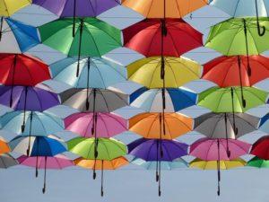 Kanopi Payung Melayang di Agitagueda Art Festival