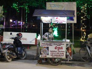 [Foto] Pedagang Makanan Kaki Lima di Siem Reap, Kamboja